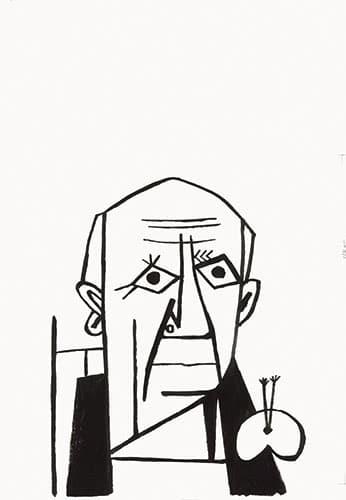 雑誌表紙 ピカソ似顔絵/1971 多摩美術大学アートアーカイヴセンター藏